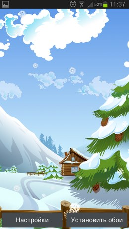 Красивые Сезонные обои с разными фонами для Android