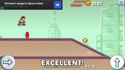 Платформер Skater Go Pro - катаемся на скейте для Android