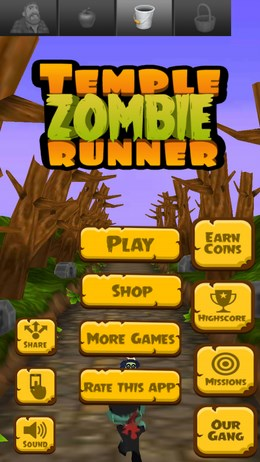 город зомби Temple Zombie Runner - раннер для Android