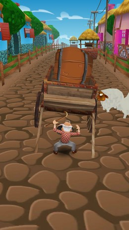 Помогите мальчишке убежать от приследования в раннере Tombik для Android