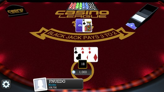 Покер и блек джек в игре Casino League для Android