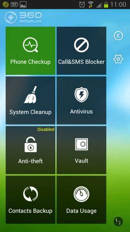 Набор ползных утилит 360 Mobile Safe для Android