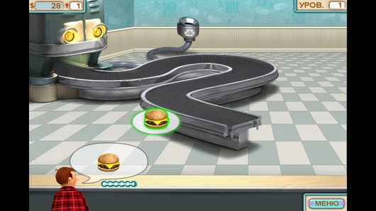 Управляйте производством фаст-фуда в Burger Shop для Android