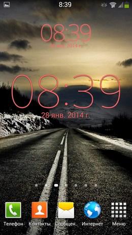 Цифровые часы Digital Clock Widget Xperia для Android
