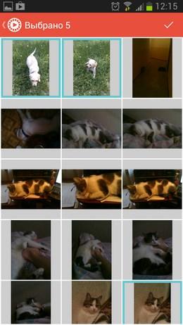 Создаем видео ролики из собственных фото в Флипаграмма для Android