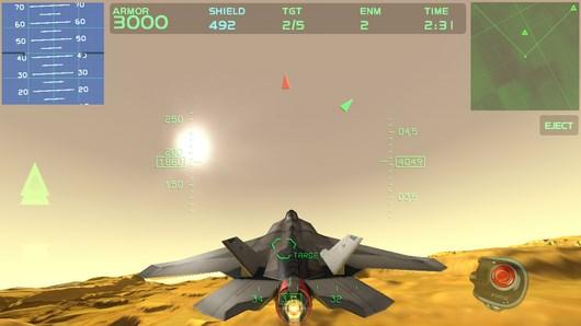 Воздушные сражения в экшене Fractal Combat X для Android