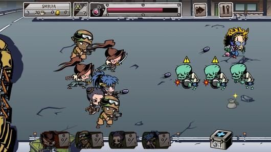 Противостояние воинов и злого професора в игре Gotcha Warriors для Android