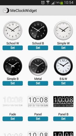 Разнообразные виджеты часов Me Clock для Android
