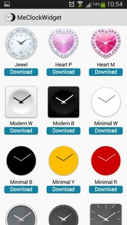 Разнообразные виджеты часовMe Clock для Android
