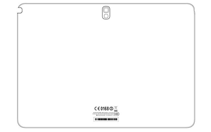 Рисунок планшета сзади