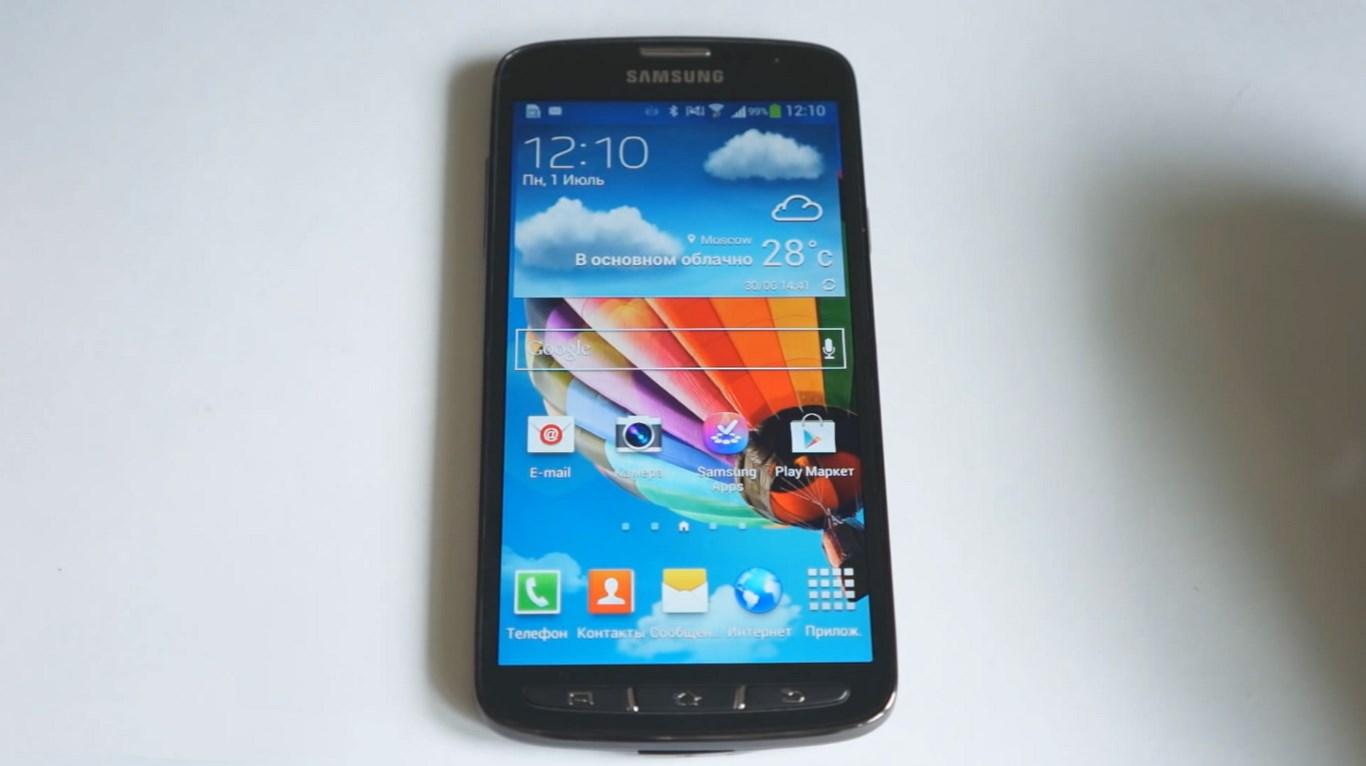 Обзор в видео Samsung Galaxy S4 Active на русском языке