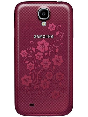 Samsung Galaxy S4 La Fleur красного цвета задняя панель