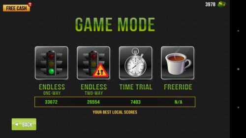 Режим игры в Traffic Racer для Android
