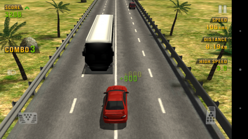 Обгон автобуса в Traffic Racer для Android