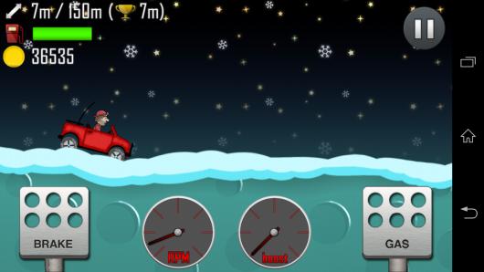 Зимняя трасса - Hill Climb Racing для Android