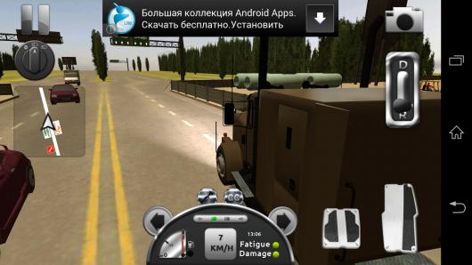 Вид сбоку - Truck Simulator 3D для Android