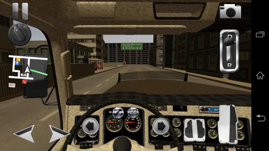 Вид из кабины - Truck Simulator 3D для Android