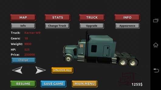 Выбор грузовика - Truck Simulator 3D для Android
