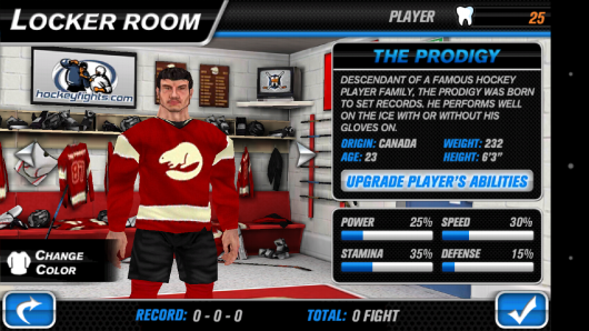 Выбор игрока - Hockey Fight Pro для Android
