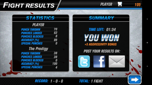 Результат - Hockey Fight Pro для Android