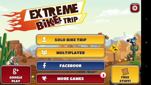 Меню - Bike Trip для Android