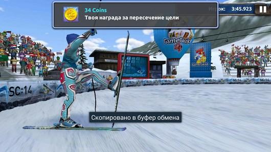 Участвуйте в соревнованиях по горным лыжам Ski Challenge 14 для Android