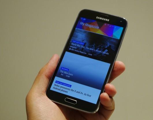 Samsung Galaxy S5 во время звонка