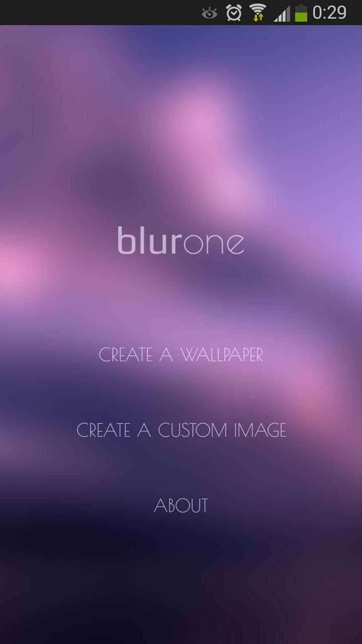 Программа для создания эффекта размытия Blurone для Android