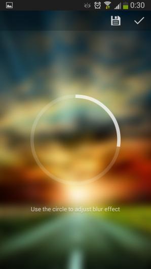 Применение эффекта для картинки - Blurone для Android