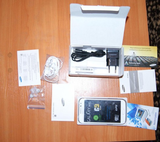 Комплектация Samsung Galaxy Win