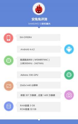 Samsung Galaxy S5 SM-G900R4 в AnTuTu