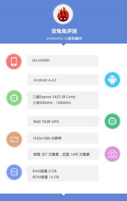 Samsung Galaxy S5 SM-G900H в AnTuTu