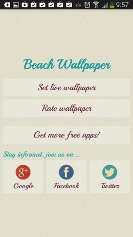 Живые обои с пляжами Beach Wallpaper для Android