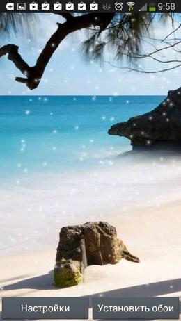 Пенек на пляже - Beach Wallpaper для Android