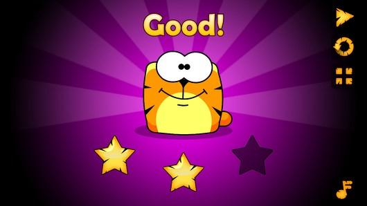 Кот соберающий цвета в аркаде Catorize для Android