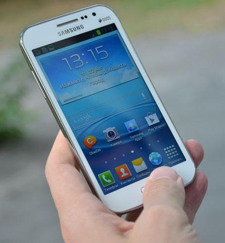 Заполнение настроек на Samsung Galaxy Win