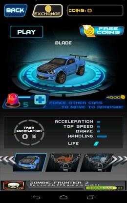 Выбора машины - Death Racing 2 для Android