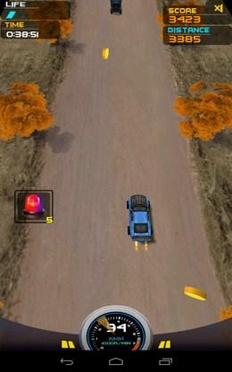 Включили супер ускорение - Death Racing 2 для Android