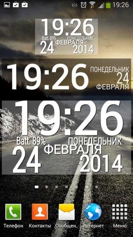 Все варианты размера виджетов Easy Clock Lite Widget для Android