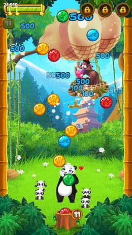 Спасите детей панды в Panda Pop для Android