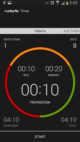 Удобный таймер Runstic Timer для Android