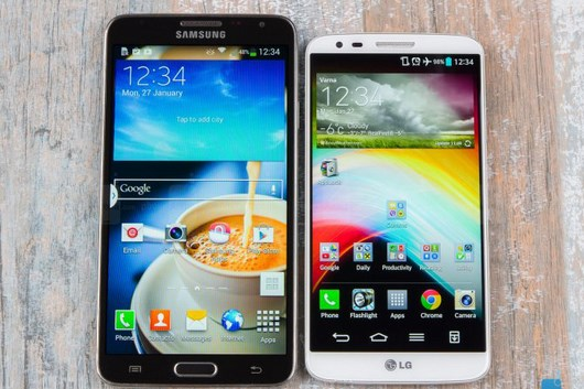 Сравнение Samsung Galaxy Note 3 Neo и LG G2 в видео
