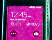Телефон с розовым экраном