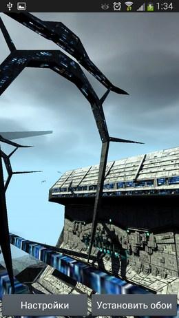 Посадочная полоса - SciFi HD Spaceport для Android