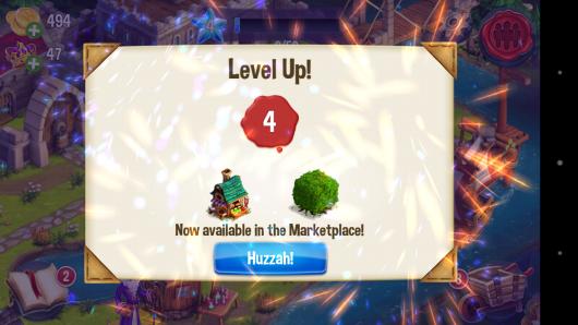 Повышение уровня - CastleVille Legends для Android