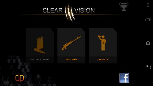 Меню - Clear Vision 3 для Android
