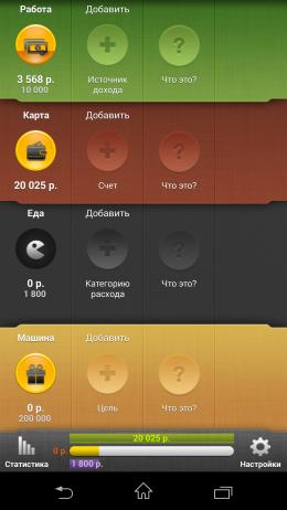 Главное окно - CoinKeeper для Android