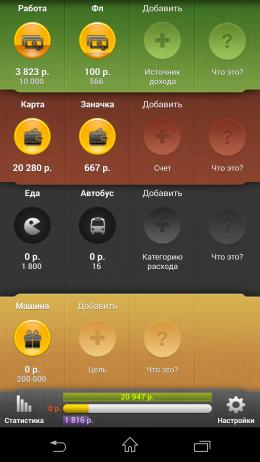 Интерфейс - CoinKeeper для Android
