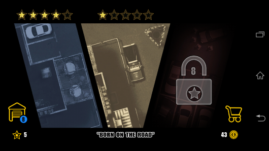 Выбор уровней - Grand Park Auto для Android