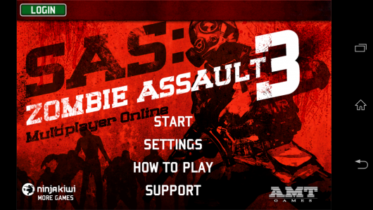 Менюа -  SAS: Zombie Assault 3 для Android